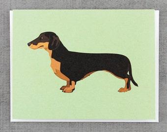 Dachsund Dog Note Card Stationery