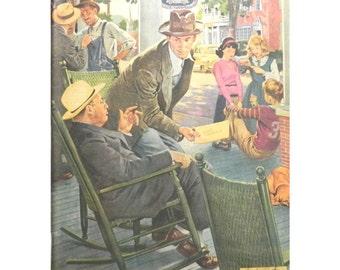 Home Town - 1940's Magazine Illustration