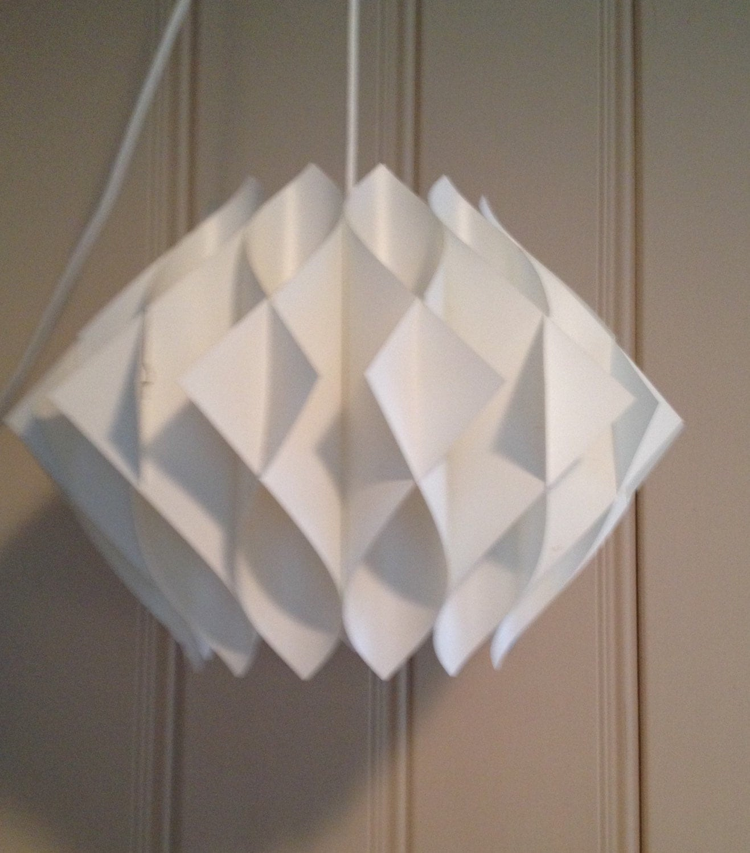 Folded Plastic Light Hanging Chandelier Mid Century Retro