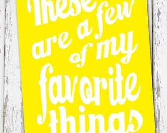 INSTANT DOWNLOAD - Favorite Things 20x30 Sign