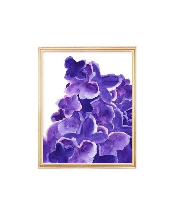 Bold Purple Watercolor Print, 8x10