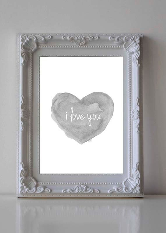 I Love You Print for Nursery, 5x7, 8x10