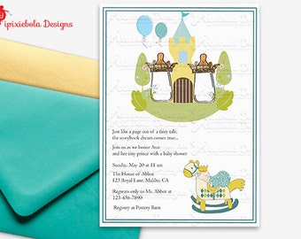 Little Prince Baby Shower Invitation - Design Fee