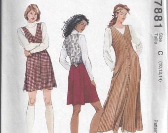 McCall's 7881 UNCUT Vintage Misses' Jumper Sewing Pattern - Sizes 10, 12, 14