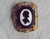 Vintage 1940s Silhouette Fashion Brooch