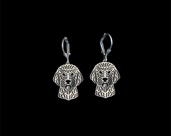 Goldendoodle earrings - sterling silver