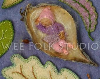 4 card set - Milkweed baby - Wee Folk
