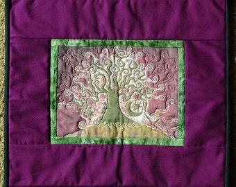 Batik Tree Quilted Wall Hanging