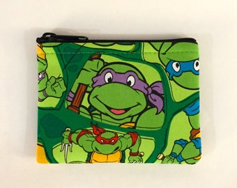 Teenage Mutant Ninja Turtles Coin Purse - Coin Bag - Pouch - Accessory - Gift - Gift Card Holder