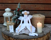tilda Christmas angel. Winter angel. Christmas doll. Handmade doll. Interior textile doll. Christmas gift