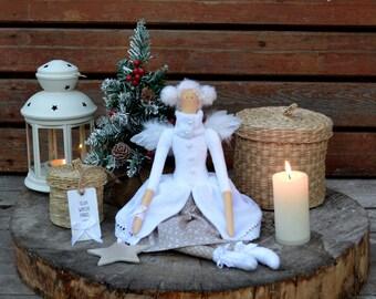 Tilda Doll Christmas angel Winter angel Christmas doll Handmade doll Interior textile doll Christmas gift