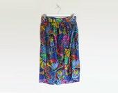 SALE / Summer Wrap Skirt | 80's Tulip Wrap Skirt in Blue | Beach Cover