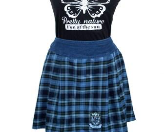 SALE College Glitter School Girl Plaid Mini Skirt