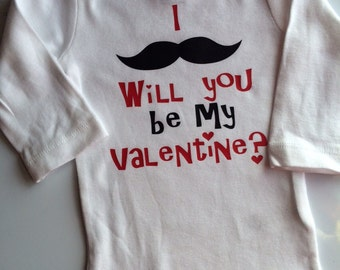 Baby boy Toddler Boy Valentines Outfit -mustache outfit for baby boy toddler boy - Valentines Day Boy outfit- If you mustache