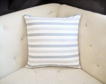 Nautical Navy Blue White Stripe 18x18 Pillow Cover
