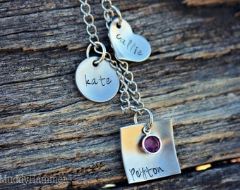 Hand Stamped Personalized Charm Bracelet