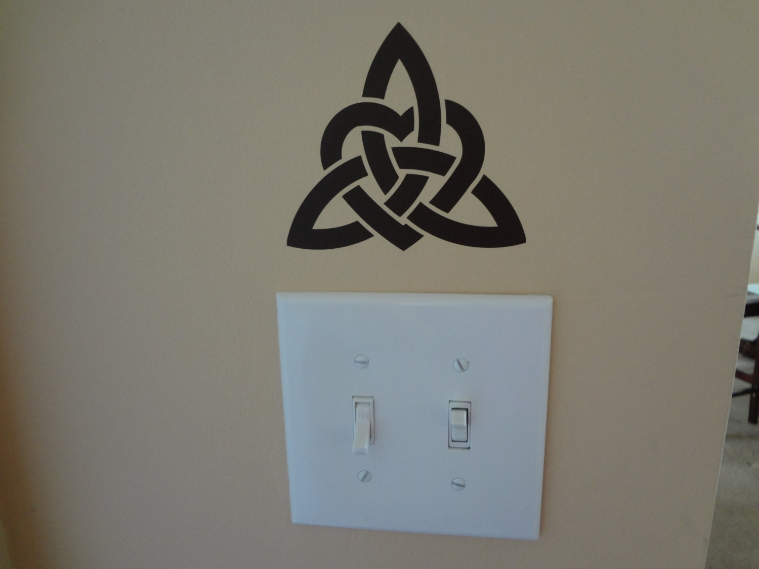 Celtic knot love wall decal home decor sticker living room for Celtic decorations home