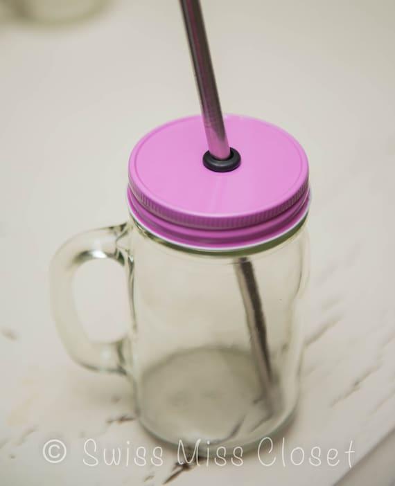Pink One Piece Regular Mouth Lid DIY Drinking Jars, Weddings, Parties, Everyday Use