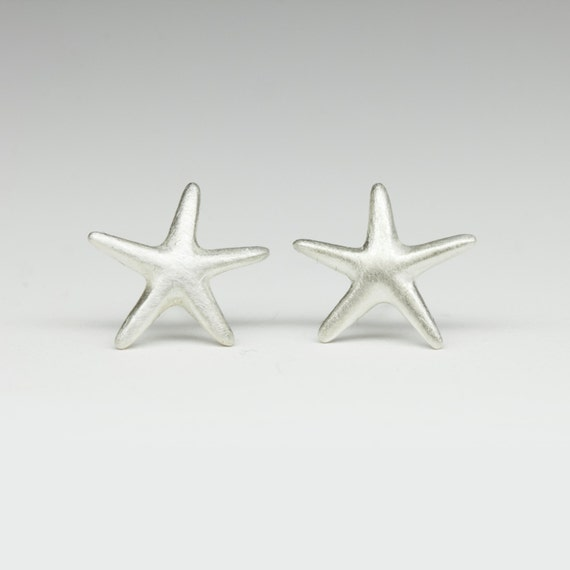 Ready to ship, Starfish Earrings in Sterling Silver