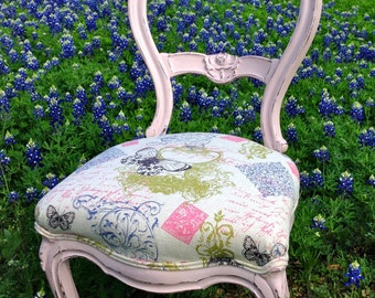 """Late 1800s Victorian Parlor Chair Re-imagined """"Bonnie Rose"""""""