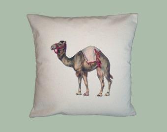 Circus Camel Canvas Pillow Cover  16x16 HANDMADE - Choice of Fabric