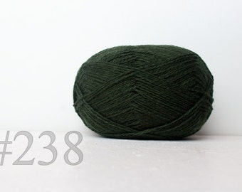 WOOL yarn 100%-knitting yarn - olive green #238