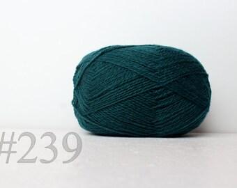 WOOL yarn 100%-knitting yarn - blue-green #239