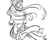 "Art Print of Original Sailor Moon Piece -  ""I gave hope to men"" in BLACK"