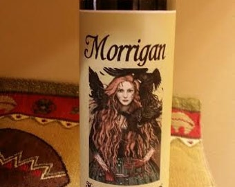 Morrigan, Fixed, Voodoo, Hoodoo, Candle, Conjure, Altar, ritual, Raven, Wiccan, Pagan,