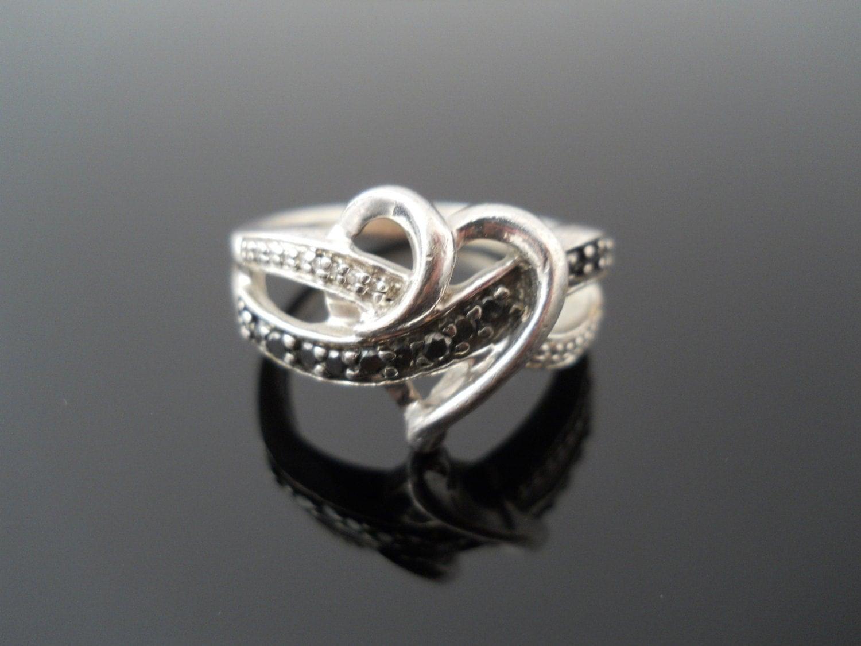 925 diamond heart ring sterling silver ring 925 diamond. Black Bedroom Furniture Sets. Home Design Ideas