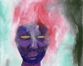 Shaman ~ Original Painting, Face, Figure, Abstract Art by Gennifer Carragher