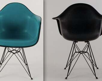 eames blue chair alexander girard naugahyde by theaviddiva. Black Bedroom Furniture Sets. Home Design Ideas