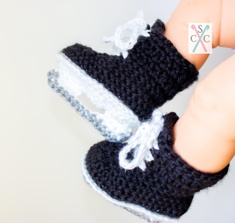 Newborn Ice Skates Classic Hockey Skates Crochet Baby