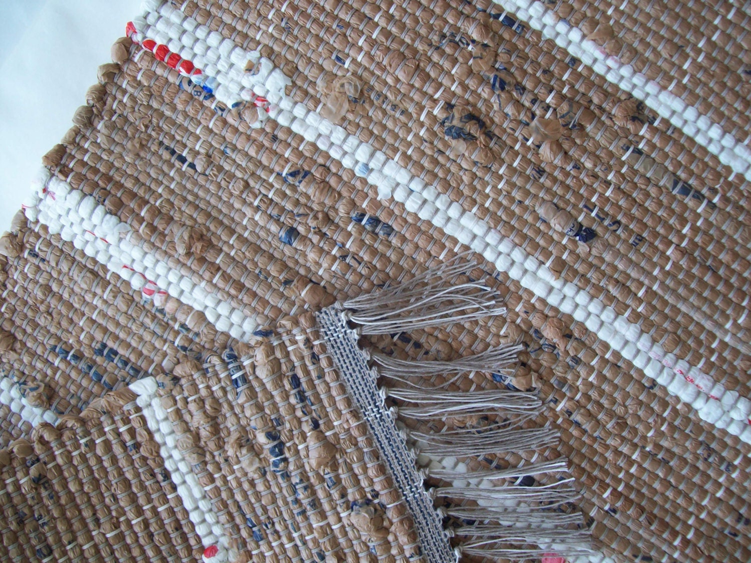 Brown Rug Camping Rug Loom Woven Rag Rug Indoor Outdoor
