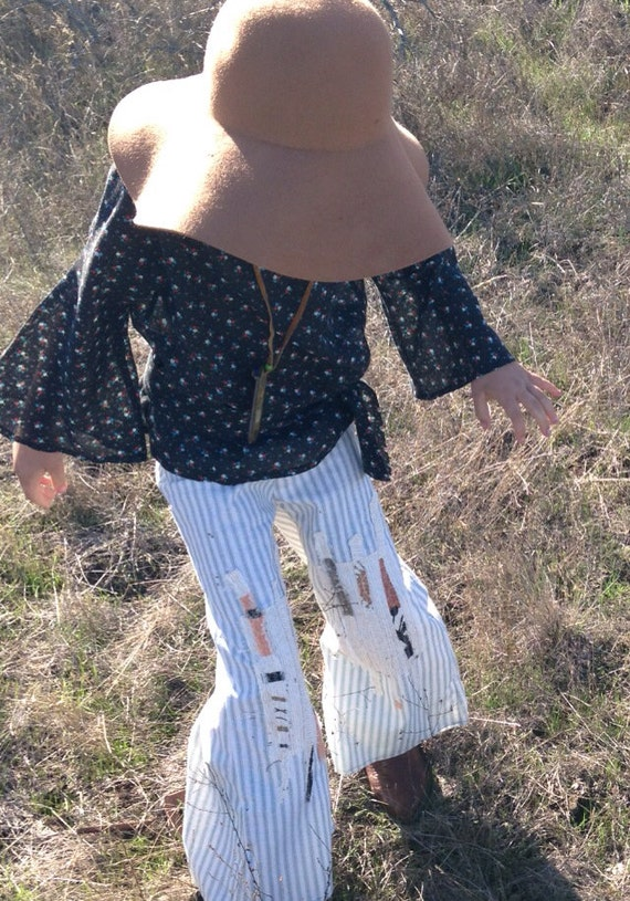 Sale!!!   Girls Bell Bottoms Pants/Patchwork/Hippie/Boho Style
