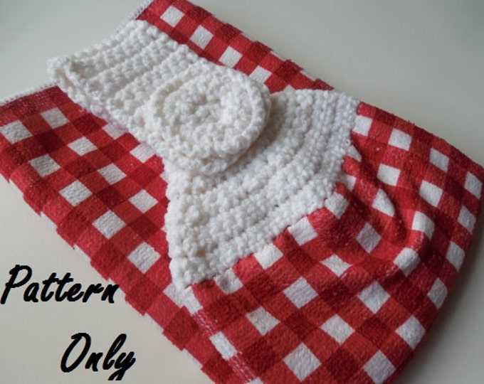 Pattern - Crochet Towel Topper Pattern - Crochet Pattern - Towel Topper - Instant Download