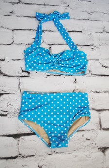 dot Girls retro swimsuit bikini two piece made to order sizes 2-12