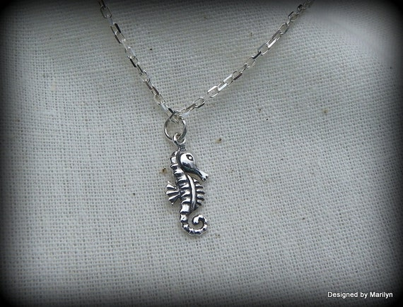 Sterling silver baby seahorse anklet, nautical jewelry, wedding jewelry, seahorse bracelet, seahorse anklet