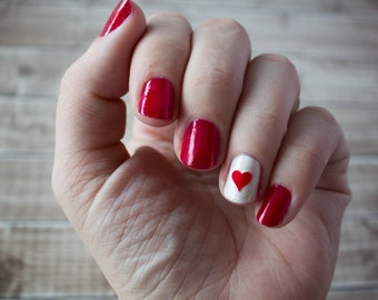 XL Heart Nail Stickers / Decals