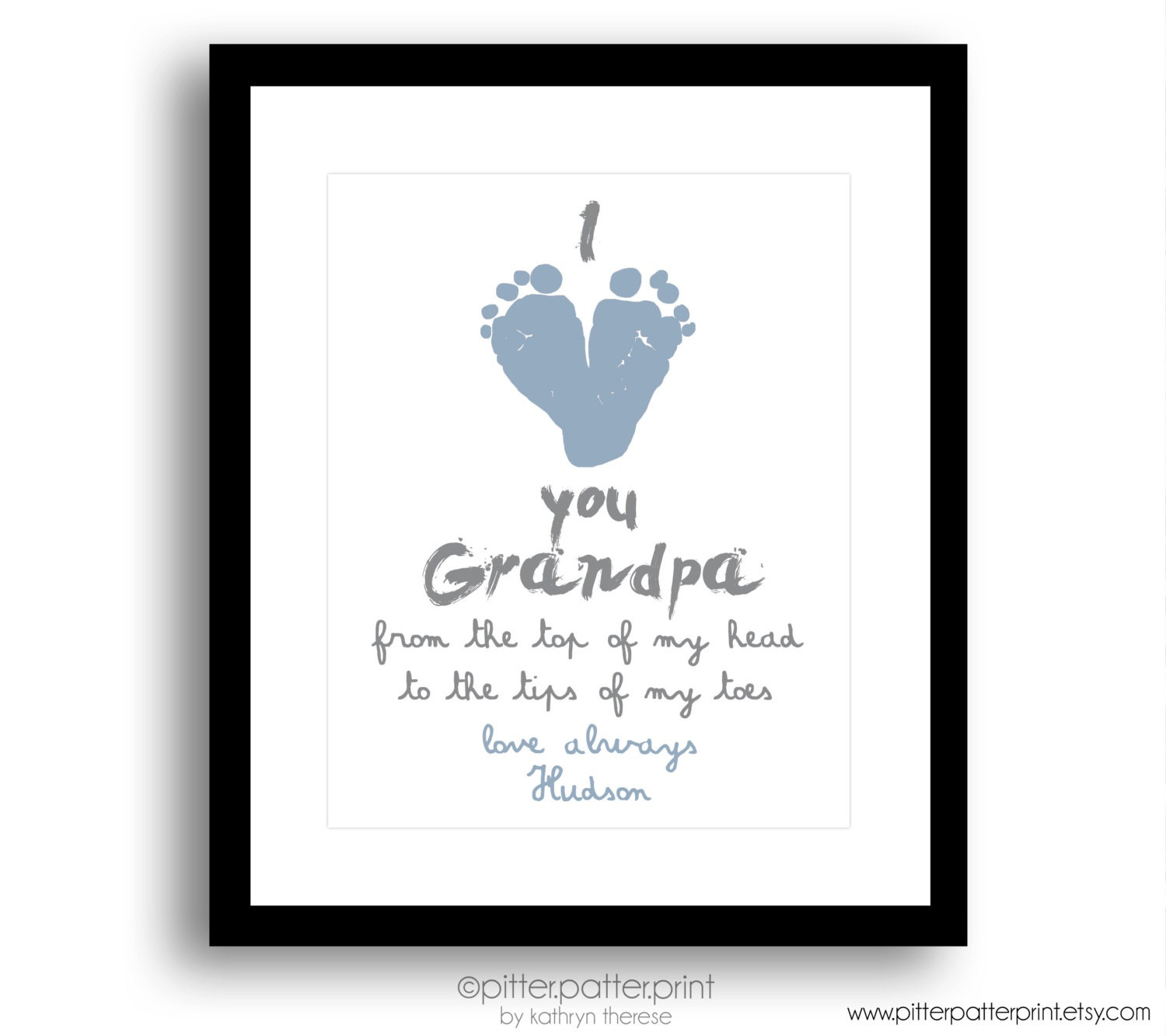 My Daddy or Grandpa\\\'s Hand Print Art Print First Father s