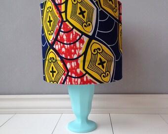 20 cm African print lampshade, drum lampshade, lighting, housewares, lampshade, handmade, lamp, home decor, lamp, shade.