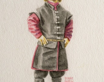 Watercolor of Tyrion Lannister