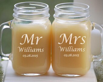 Mason jar wedding | Etsy