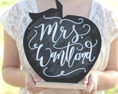 Chalkboard Apple Sign, Teacher Gift, Classroom Decor, Personalized Keepsake Gift, Back to School Gift, Teacher Appreciation