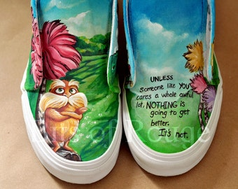 Custom Hand Painted Shoes- The Lorax