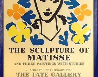 Rare ca.1953 Matisse Lithograph Made for the Tate Gallery in London w/Frame