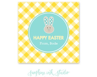 Easter gift tags etsy personalized printable kids happy easter gift tags or party favor tags negle Choice Image