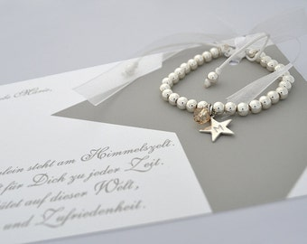 Children name bracelet, personalized, christening jewellery