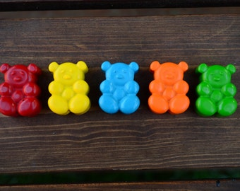Teddy Bear Crayons set of 10 - Party Favors - Kids Crayons