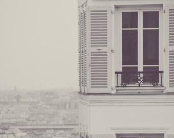 "Paris Black and White - paris apartment black and white photography view 8x10 photo paris wall decor 11x14 16x20 large art ""The World Above"""